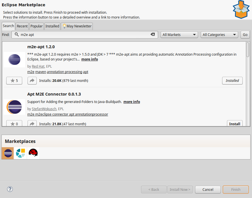 Eclipse IDE setup for Ebean ORM Query Bean generation (Java